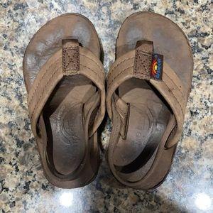 🌈Rainbow Flip Flops Infant Size 3-4 GUC